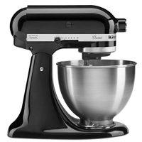 KitchenAid Classic Series 4.5 Quart Tilt-Head Stand Mixer, Onyx Black (K45SSOB)