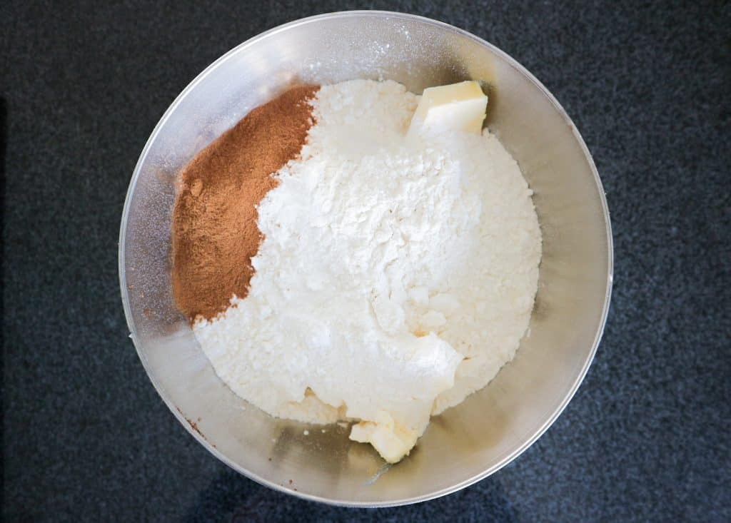 ingredients for pepernoten in a bowl