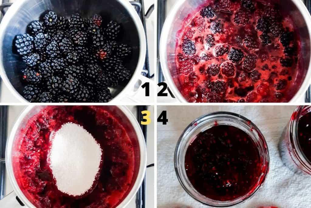 Step by step blackberry jam recipe